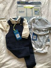 Baby Boy Ted Baker Clothes Age 3-6 Months With Gift Bag Dungaree & Full Body Set