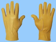NEW MENS UNLINED COWHIDE LEATHER DRESS-ROPER-WORK GLOVES-WRIST EXPANSION
