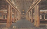 C99/ Utica New York NY Postcard NY Central Railroad Depot c1910 Interior