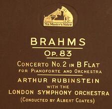 ARTHUR RUBINSTEIN -PIANO- & L.S.O. & COATES Brahms: Concerto No. 2 B Flat A197