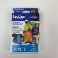 Brother LC61C Cyan Ink Cartridge Genuine Original OEM Sealed Exp 11/15