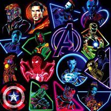 30PCS Neon Stickers Marvel Hero The Avengers Skateboard Laptop Guitar Motorcycle