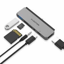 LENTION USB-C Hub to USB 3.0 Jack Aux HDMI Adapter Card Reader for 2019 iPad Pro