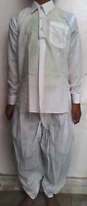 Rajasthani Traditional Royal Ready To Wear Cotton White Dhoti Kurta For Kids #02