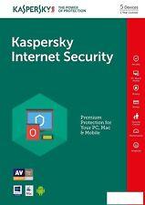 Kaspersky Internet Security 5 Devices Multi-Device 2019 EU USA Canada Lat.Amer