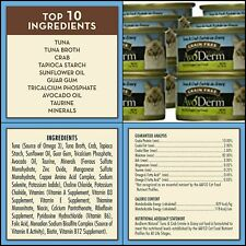 New listing AvoDerm Natural Tuna Wet Canned Cat Food, 3 Ounce Cans, Case of 24 Tuna & Crab