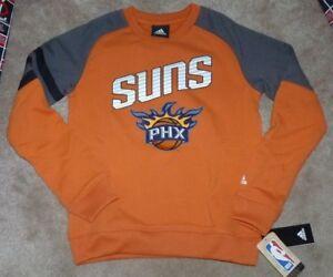 NEW ADIDAS NBA Phoenix Suns Crew Basketball Sweatshirt S Small 8 Youth Boys NWT