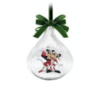 MINNIE AND MICKEY GLASS DROP SKETCHBOOK ORNAMENT 2020 THE DISNEY STORE NIB NEW!