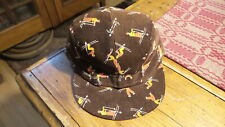 Vintage Boy'S Corduroy Winter Cap Ear Flaps & Quilted Lining,Brown,Skiers,6-1/2