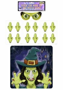 Halloween Party Game - Stick Pin The Nose On The Witch Birthday Celebration