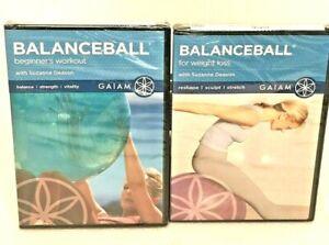 New Balance Ball Beginner's Workout For Weight Loss 2 DVDs Gaiam Suzanne Deason