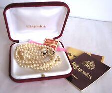 Collar Clasico Perlas MAJORICA PEARLS 3 Vueltas 5mm 45 cm AUTENTICAS/ MIRA FOTOS
