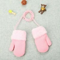 Toddler Baby Girls Boys Outdoor Winter Patchwork Keep Warm Mittens Gloves  US