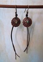 Old Turquoise Dime Concho Earrings by Sundance Catalog Artist