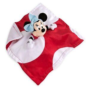 Disney Store Minnie Mouse Baby Soft Plush Blankie Doudou Comforter Blanket BNWT