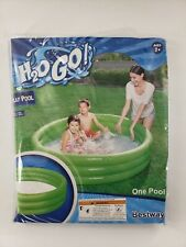 H20 GO INFLATABLE THREE RING SWIMMING POOL - KIDS POOL - AGES 2+ 60 in x 12 in