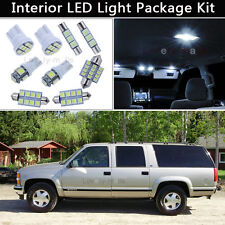 16PCS White LED Interior Lights Package kit Fit 1995-1999 Chevy/GMC Suburban J1