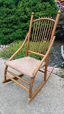 1800s Antique American Primitive homemade Ladies sewing nursing rocking chair