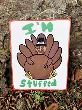 Handmade Thanksgiving Turkey Wood Hanging Sign Fall Decor Rustic Farmhouse
