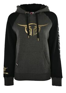 Bullzye Ladies Authentic Pull Over Hoodie- Charcoal/Black - Sizes 8 to 20