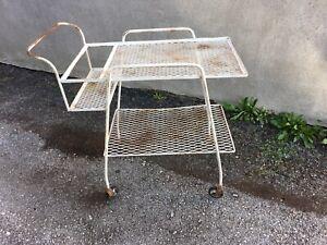 Vintage John Saterini Wrought Iron Bar Cart