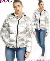 NEW LADIES QUILTED WINTER COAT PUFFER HOODED WOMENS JACKET PARKA SIZE 8 10 12 14