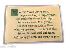 WICCAN REDE MAGNET Wicca Witch Pagan Occult