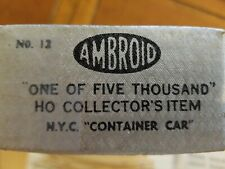 Ho Ambroid N.Y.C. Container Car Kit # 12