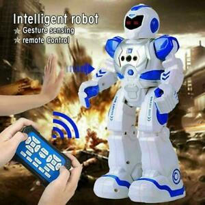 New Intelligent Robot RC Remote Control Smart Action Music Kids Toy Gift Blue UK