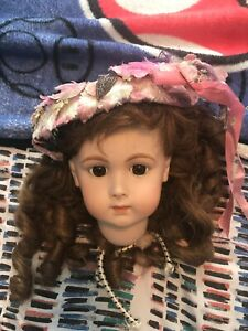 Lovely Designer Floral Doll Hat 4 Bisque Antique Composition French German Doll