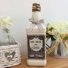 Shabby Chic Stile Francese Bottiglia/Portacandele ~ SAINT EMILION ~ (643)