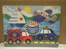MELISSA & DOUG- #4321 VEHICLES TOUCH AND FEEL PUZZLE- NEW