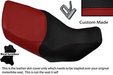 DARK RED & BLACK CUSTOM FITS HONDA XL 1000 V VARADERO 99-07 DUAL SEAT COVER