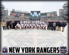 2013-2014 NEW YORK RANGERS HOCKEY YANKEE STADIUM 8X10 TEAM PHOTO