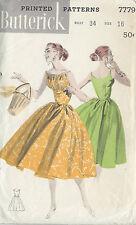 1950s Vintage Näh Muster B34 Kleid (1004)
