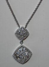 Plata de Ley Original Topacio Blanco & Collar de diamantes