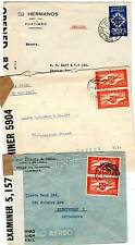 # 1941 x 3 PORTUGAL TO LONDON COVERS - OPENED BY EXAMINER - CENSORSHIP WW2