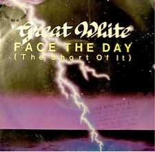 GREAT WHITE face the day/hold on SP 1986 PROMO VG++