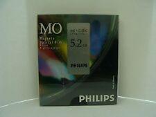 "NEW 5-Pack Philips 83PDO MO 5.2GB Optical Disk RW 5.25"" (Same as EDM-5200C)"