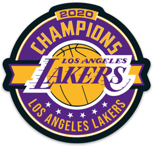 Los Angeles Lakers Classic logo type 2020 NBA basketball Champions Diecut MAGNET
