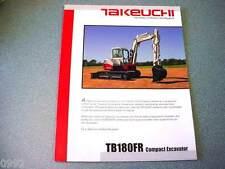Takeuchi TB180FR Compact Excavator Brochure