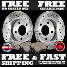 P1068 FIT 2003 2004 2005 2006 2007 Ford Crown Victoria Drilled Rotors Pads Front