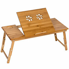 XXL Houten laptoptafel bed laptop tafeltje voor op schoot opvouwbare tafel