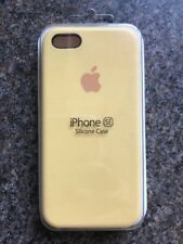Apple iPhone 5 5s / SE Silicon Case Slim Great Handling Original Cover - Yellow