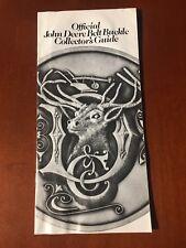 John Deere Official Belt Buckle Collector Guide 1984