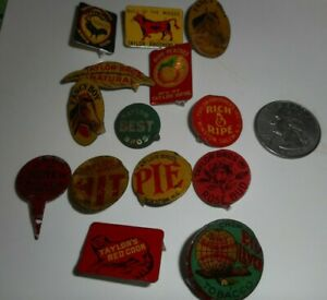 Lot 14 Vintage Tobacco Tags Collection Taylor Brothers Winston Salem, NC Animals