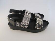 4dce6845651 VINCE Black White Python Snake MARETT Open Toe Platform Sandal Sz 7.5 M