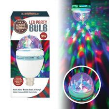 3 Watt LED Party Disco Bulb Rotating Multicolour Bayonet Cap Lightbulb