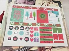 Scrapbooking Embellishment Erin Condren Planner Stickers Christmas Holiday