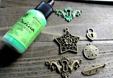Vintaj Patina Charm Set Antiqued Bronze Charms Jade Patina Kit